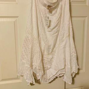 NWT 18/20 Avenue Handkerchief Skirt w Lace Pattern